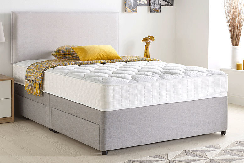 Radley Fabric Divan Set with Optional Drawers – 5 Colours! from £129