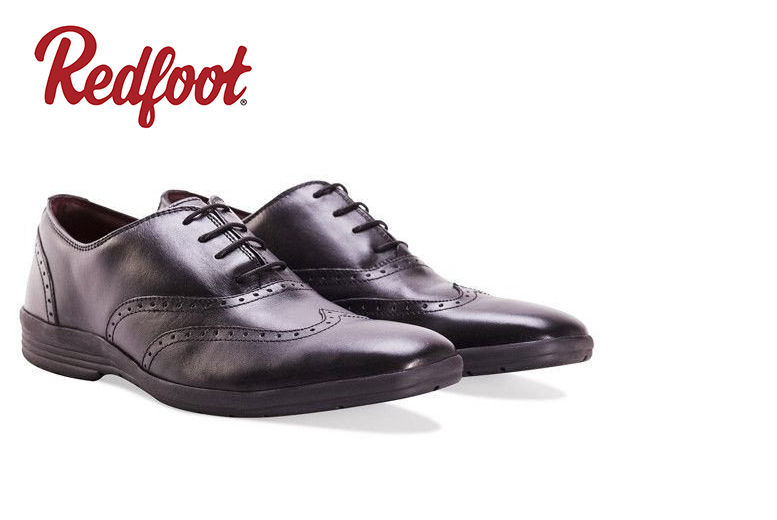 Men's Cushioned Leather Oxford Shoe – 3 styles! for £19.99