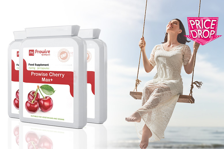 45 or 135-Day Supply* of Cherry Max+ Health & Recovery Capsules from £7.99