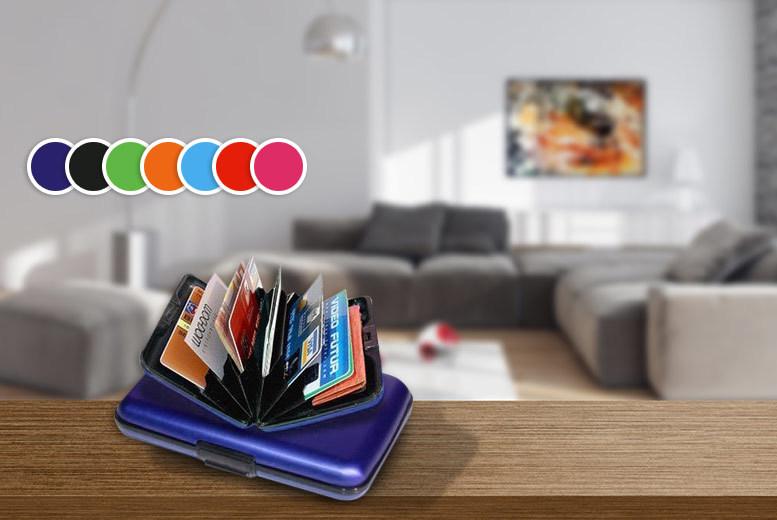 2 Aluminium Wallets - 6 Colour Combos!