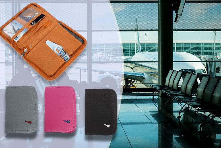 Passport & Document Travel Organiser – 4 Colours! for £2.99