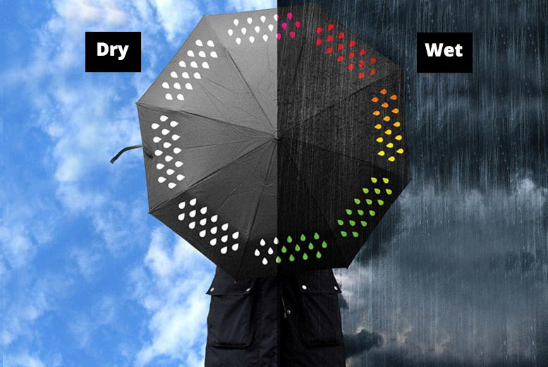 Compact Colour-Changing Umbrella for £7.99
