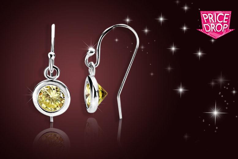 Peridot Drop Earrings for £6