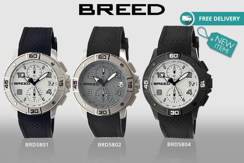 Men's Luxury Breed 'Raylan' Chronograph Watch – 7 Designs! for £79