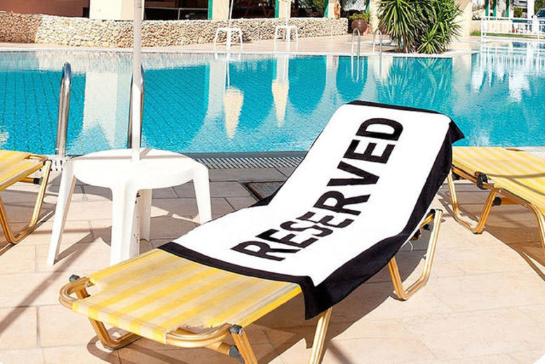 Reserved' Beach Towel for £9.99