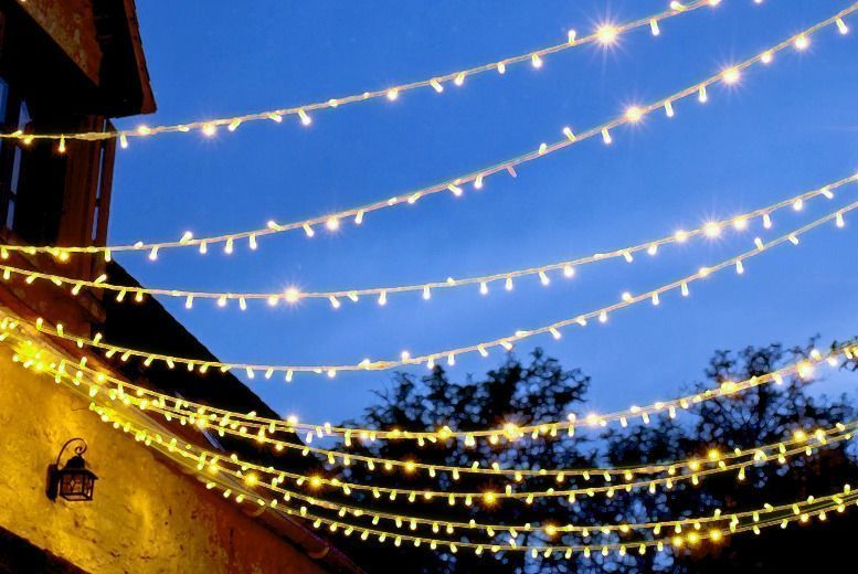 Solar LED String Lights – 50, 100, 200, 2 x 50 or 2 x 100! from £4.99