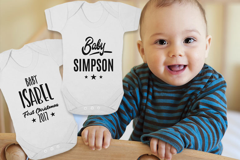 Personalised Baby Grow – 0-3mth or 3-6mth Sizes! for £5.99