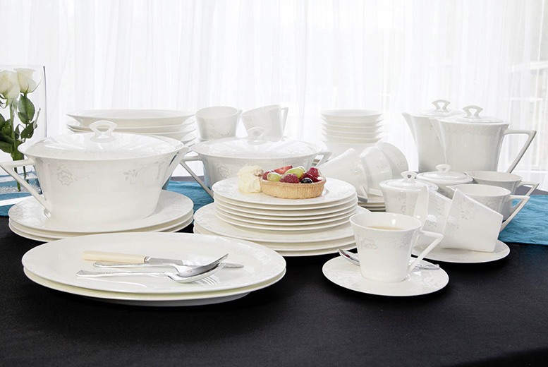 Luxury Eternity Fine Bone China Dinner Sets – 24, 34 or 56 pieces! from £49