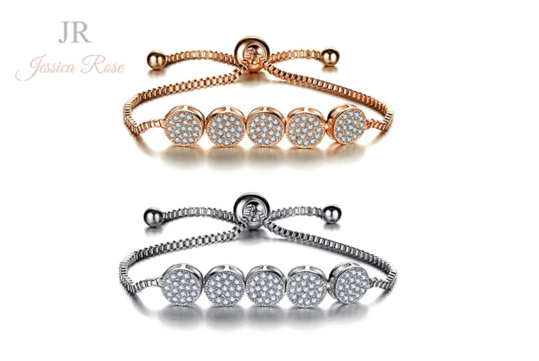 Jessica Rose Crystal Friendship Bracelet – 2 Colours! for £12