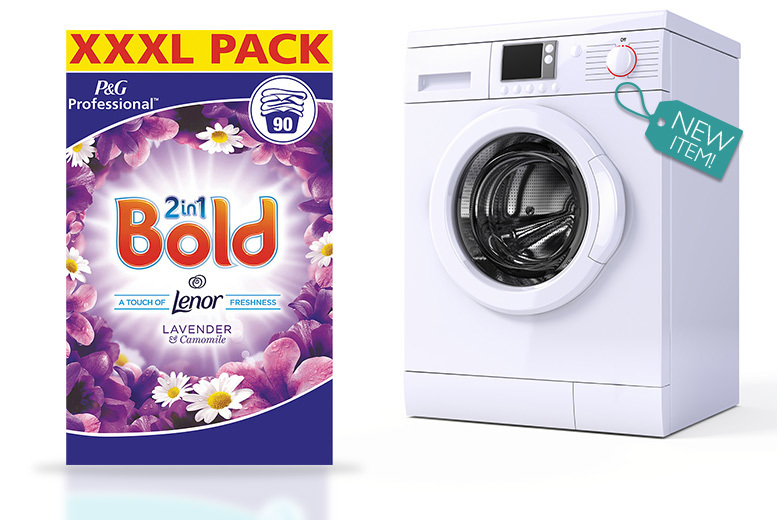 2-in-1 XXXL Bold & Lenor Washing Powder – 2 Packs! for £29.99