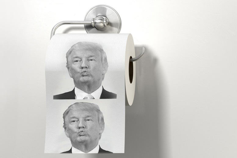 Donald Trump Toilet Paper for £4.99