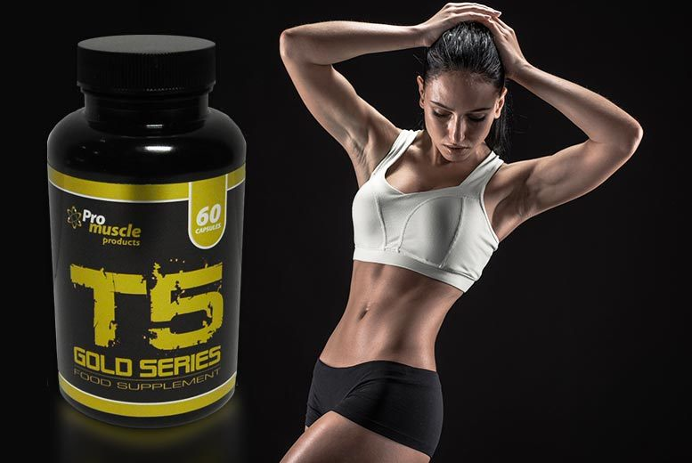 £7 instead of £32.99 (from Pro Muscle Products) for a one-month* supply of T5 gold series capsules or £16 for a three-month* supply - save up to 79%