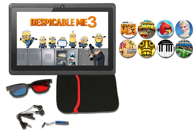 5pc 7″ 8GB Kids Quad Core Android 6.1 Gaming Tablet Bundle for £29