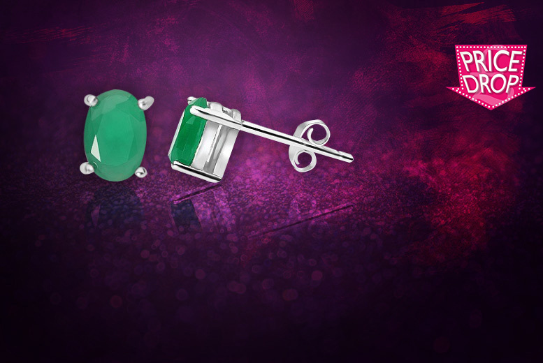 Emerald Stud Earrings for £5.99
