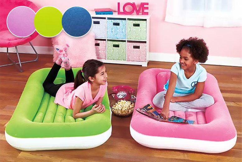 Kids' Air Bed with Safety Bumper - 3 Colours!