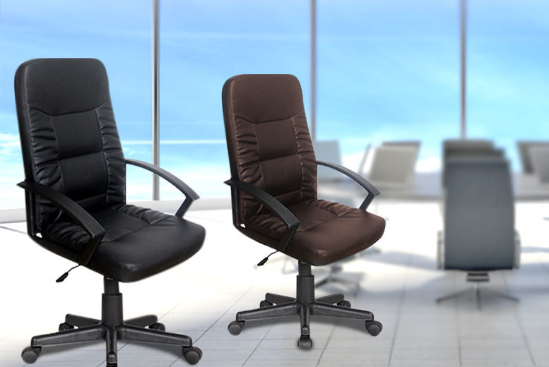 £79 instead of £199.99 (from FTA Furnishing) for an operator office chair, £89 for a luxury managers' chair - choose from brown or black designs and save up to 60%