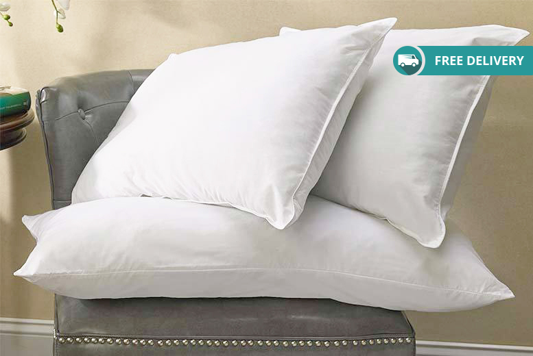 2 Duck Feather & Down Pillows for £14