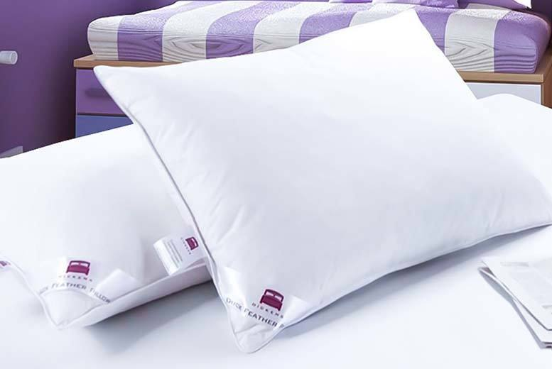 4 Luxury Dickens Duck & Down Feather Pillows for £18.99