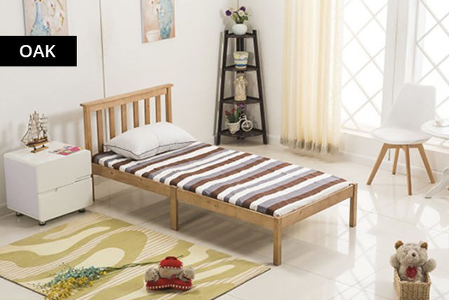 pine wood bed frame