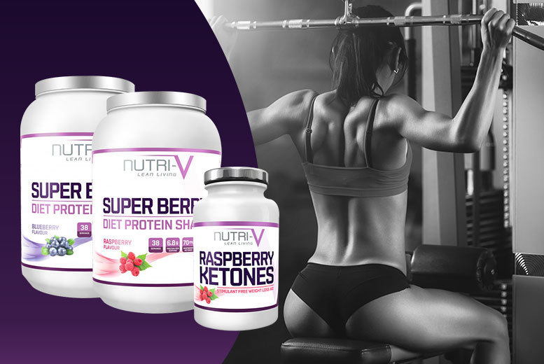 £14 instead of £60 for a 1kg tub of super berry 'weight management' protein shake and a 1-month* supply of Raspberry Ketone supplement - save 77%