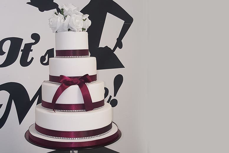£169 instead of £475 for a four-tier wedding cake from It's Mine Cakes, Essex - save 64%