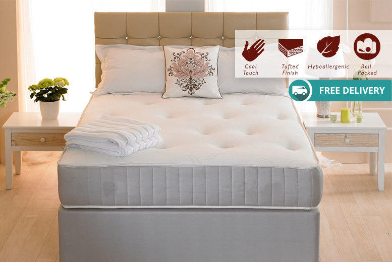 Orthopaedic Tufted Memory Foam Sprung Mattress from £79