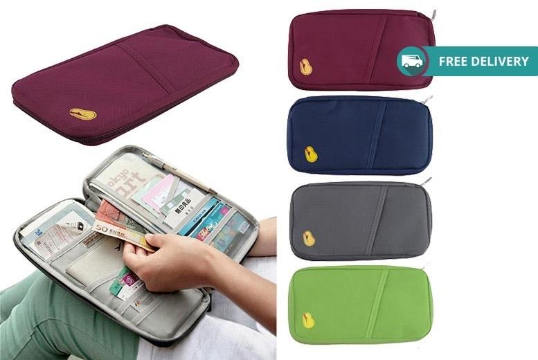 Passport & Document Travel Organiser – 4 Colours! for £3.99