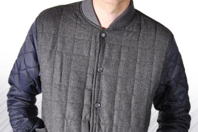 Men's Tweed Baseball Jacket