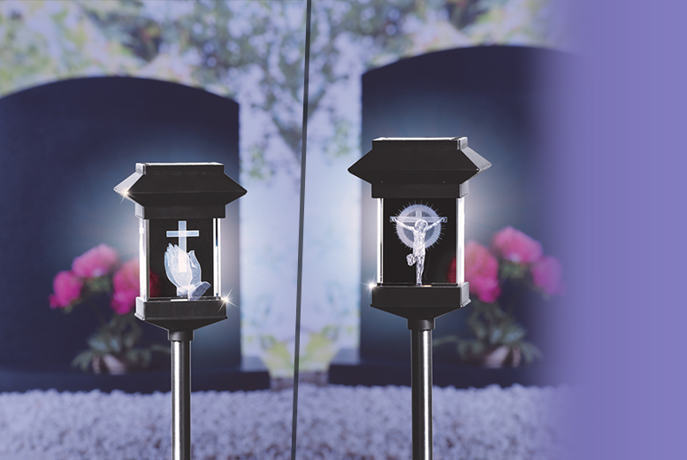 £7.99 instead of £49.99 for a solar memorial light - pick from seven designs and save 84%