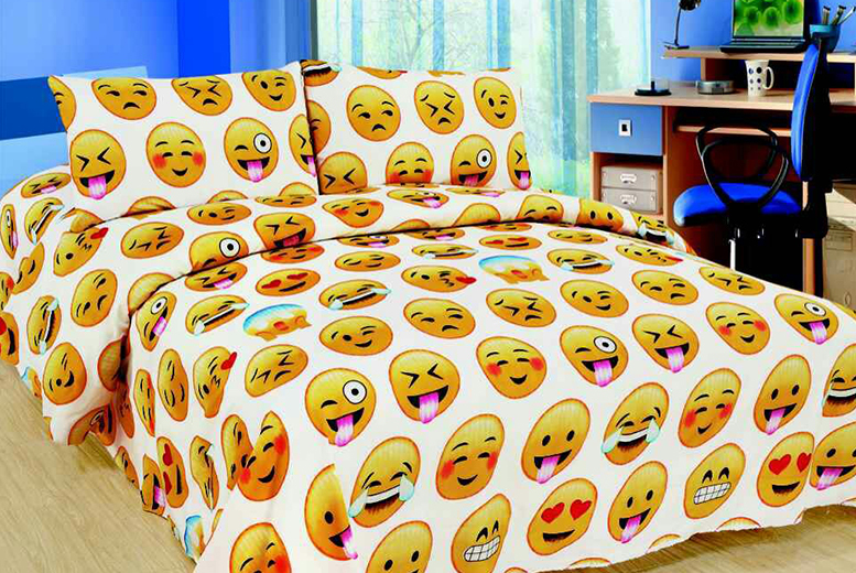 3pc Emoji Bedding Set