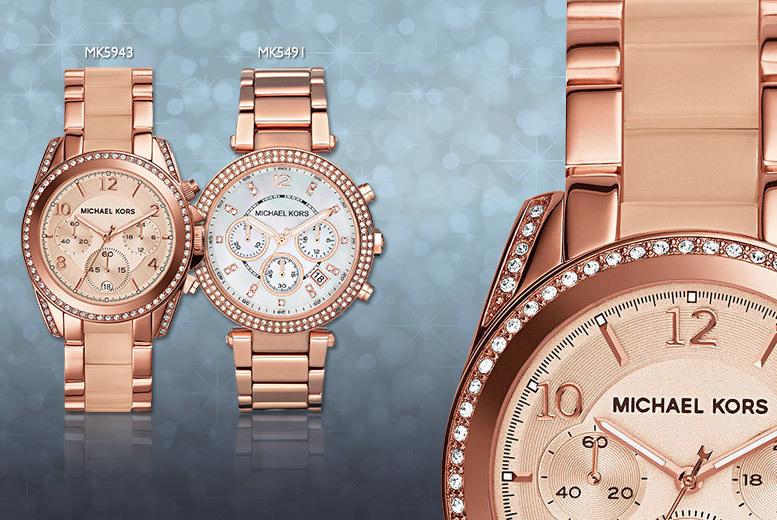From £135 instead of £229 for a ladies' Michael Kors bracelet watch - choose from four fabulous designs and save up to 41%