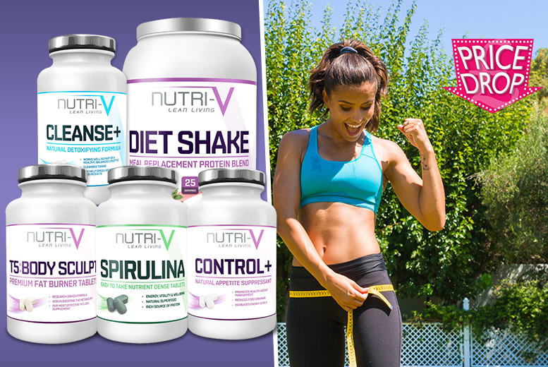 £34 instead of £144 for a Nutri-V weight management and toning supplement package - shape up and save 76%