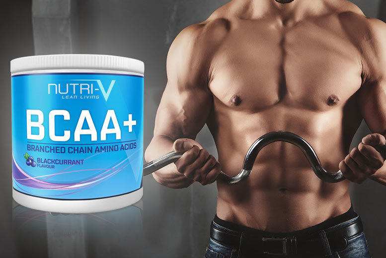 £14 instead of £45 for a 500g tub of BCAA+ powdered supplement - choose blackcurrant, orange or unflavoured and save 69%