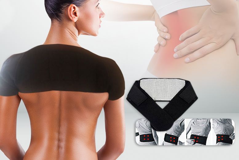 £5.99 instead of £29.99 (from Pretty Essential) for a self-heating back 'support', £7.99 for a double shoulder 'support' or £12.99 for both - save up to 80%