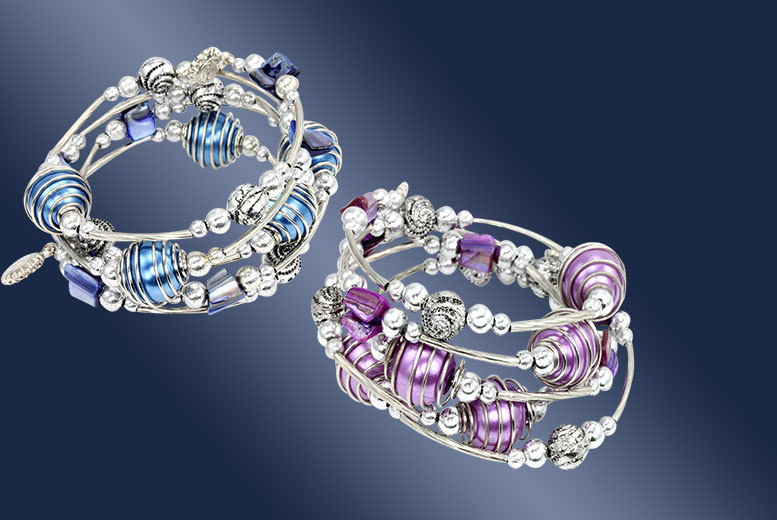 £5 instead of £39 (from Bijou Amour) for a beaded spiral bracelet - save 87%