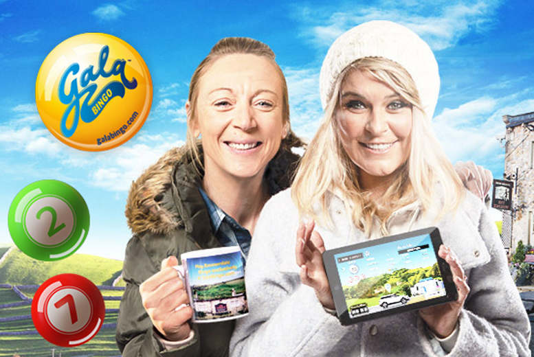 £5 for £45 Gala Bingo credit to spend online at GalaBingo.com with a limited edition Emmerdale mug - save 89%