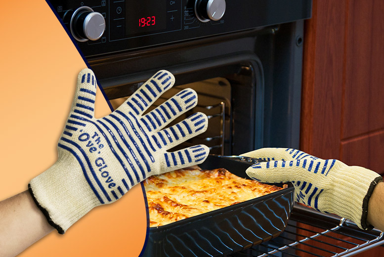 £4.99 instead of £19.98 (from Pretty Essential) for a five-fingered flexi-grip oven glove, or £8.99 for two - save up to 75%