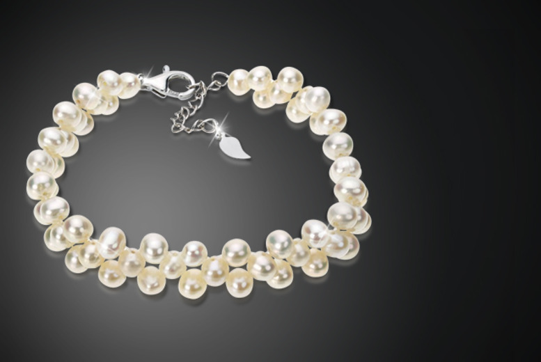 £6 instead of £75 (from Jewel Unique) for a freshwater pearl cluster bracelet - save a stunning 92%