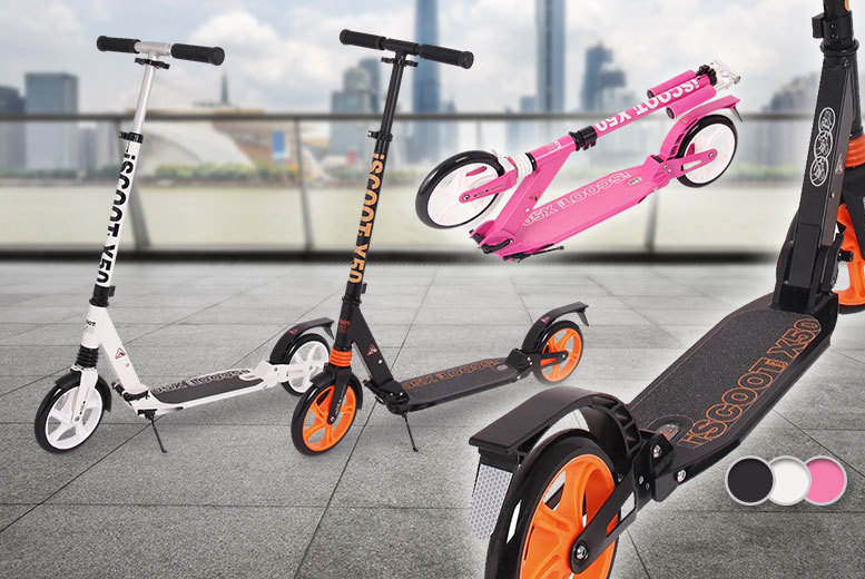 Ultimate iScoot© X50 Adult City Push Kick Scooter - 3 Colours!