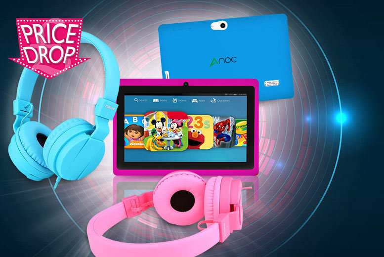 Kids' Android Tablet and Headphones
