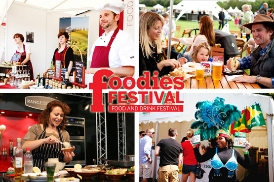 £9 for 2 tickets to the Foodies Festival in Brighton or Oxford, or £14 for 2 tickets to the Foodies Festival in London – save up to 40%