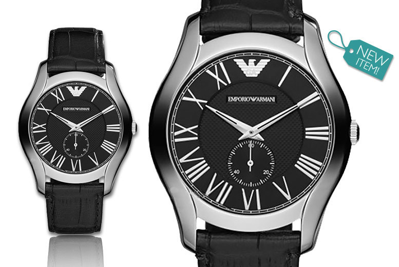 Men's Emporio Armani Classic Leather AR1703 Watch