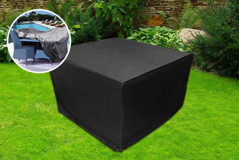extra large outdoor furniture covers. garden rattan furniture cover u2013 2 sizes protect your cubed set from weather damage with this simply push the chairs under table and extra large outdoor covers