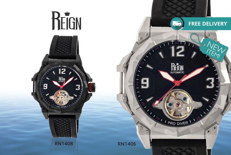 Men's Reign Hapsburg Pro Diver Watch - 4 Designs!