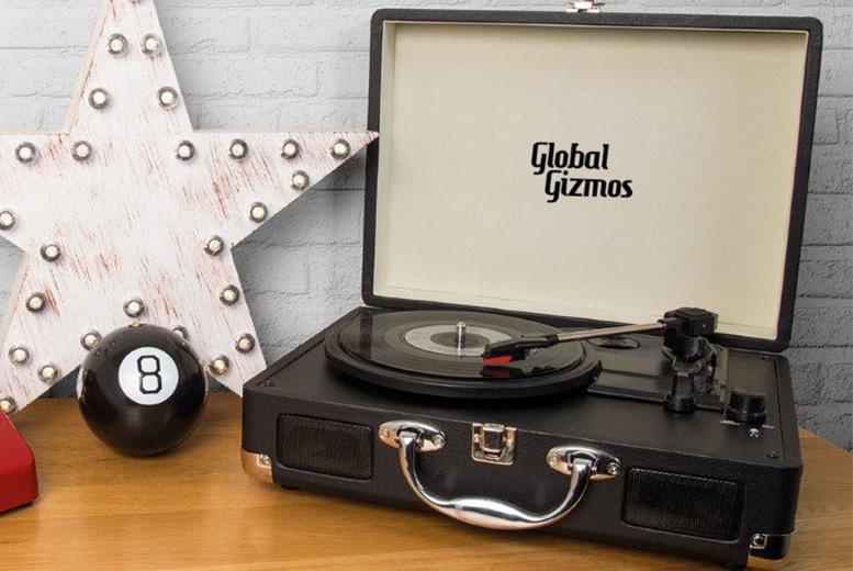Portable Turntable Suitcase – 4 Colours! for £39