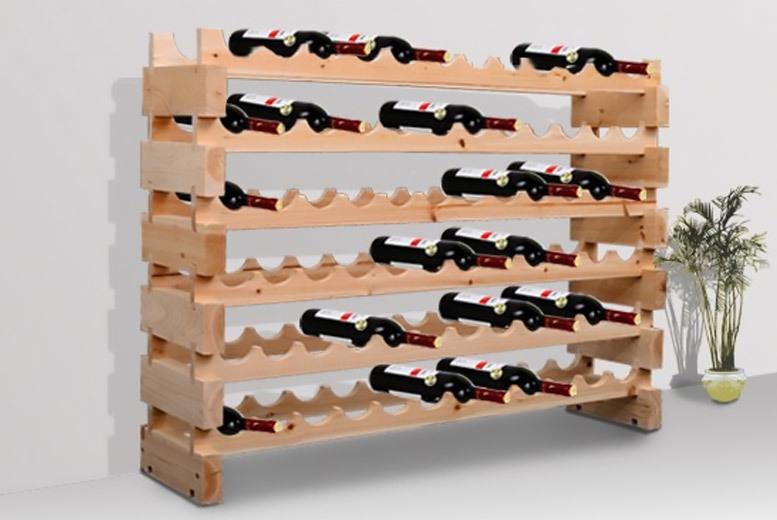 Heavy Duty 72 Bottle Wooden Wine Rack for £49