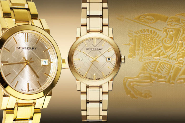 £179 instead of £350 for a ladies' luxury Burberry watch - choose from three gorgeous styles and save 49%