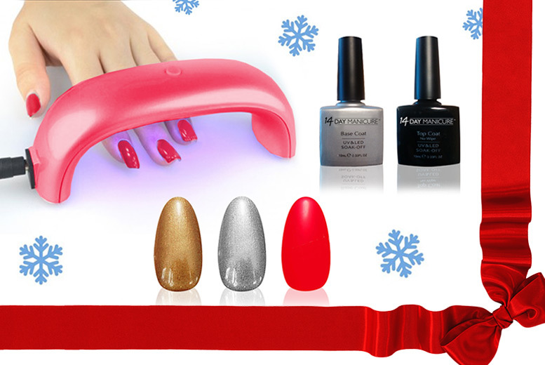 Xmas UV Nail Kit with LED Lamp from £22