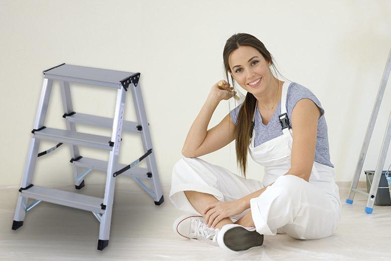 Heavy Duty Folding Aluminium Ladder – 5 Sizes! from £29