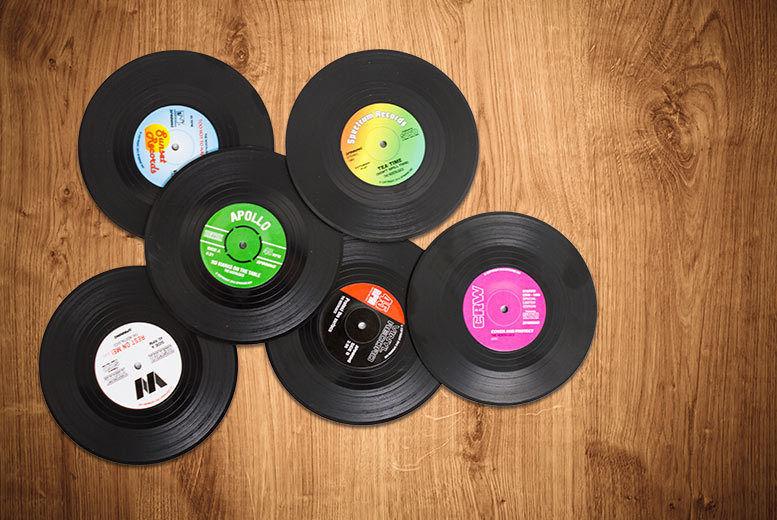6 Vinyl Record Coasters for £3.98